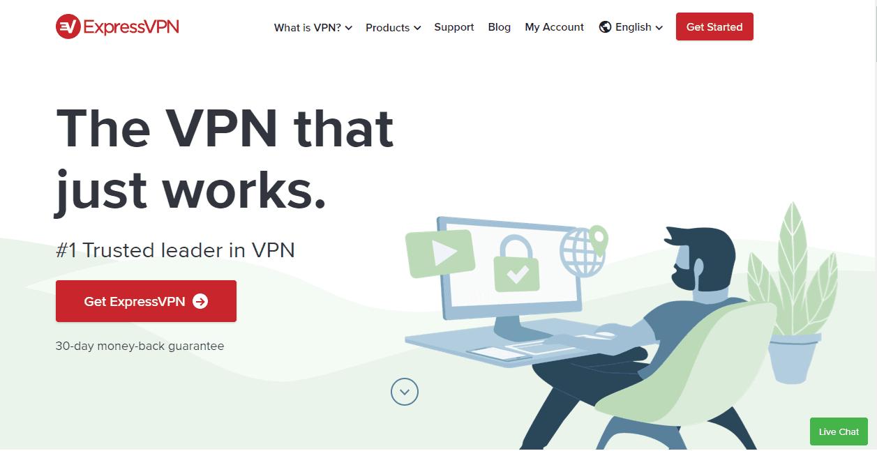 ExpressVPN首頁