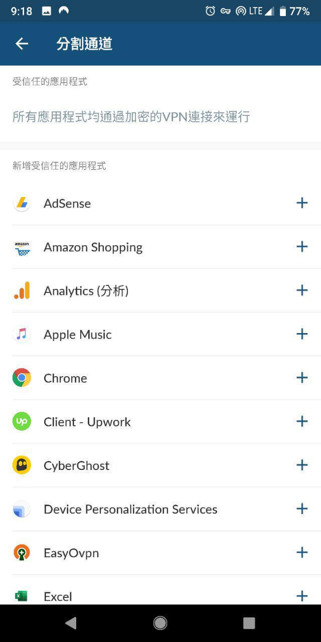 Nordvpn-Android-分割管道