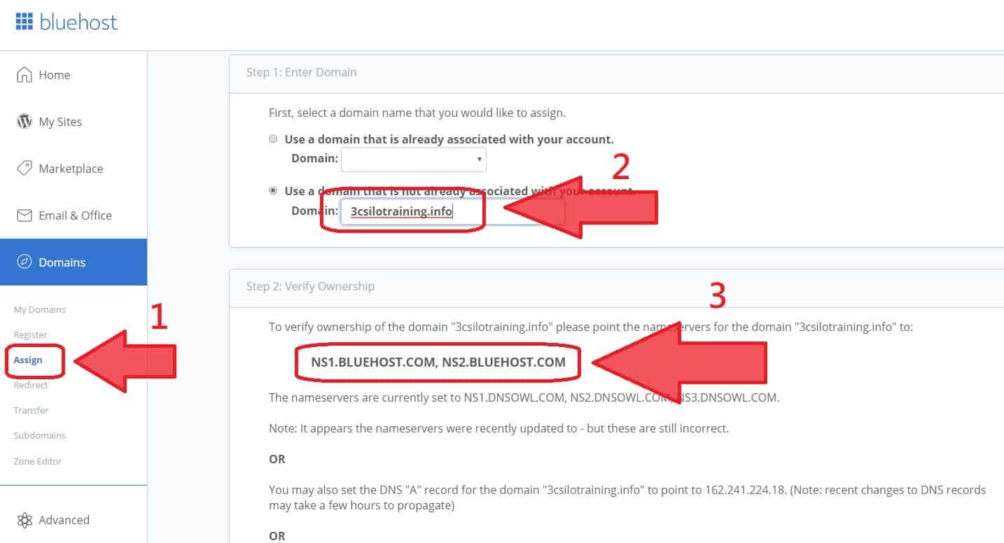 DNS 指向教學 bluehost -2