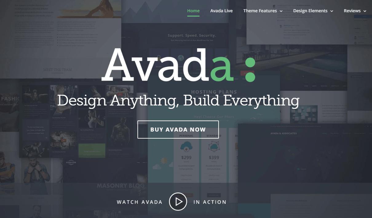 Avada theme 首頁
