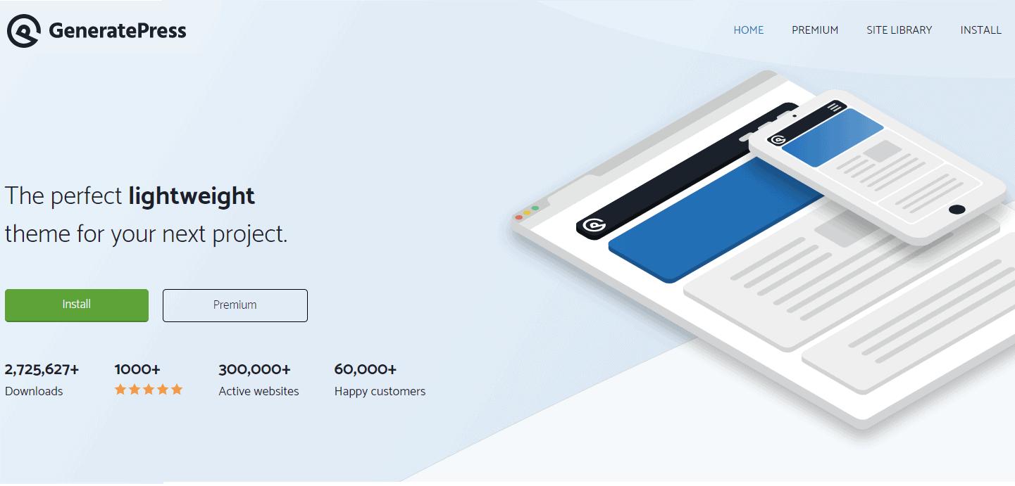GeneratePress theme 首頁