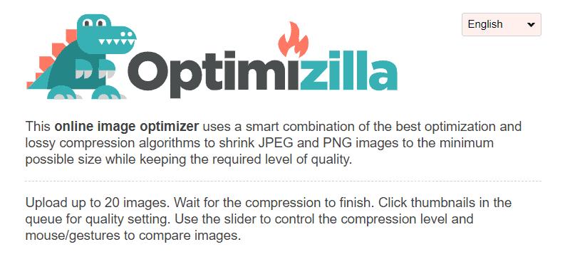 Optimizilla 首頁