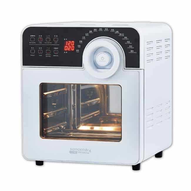 【SONGEN 松井】14L鋼製智能選單旋風可翻轉氣炸烘烤爐