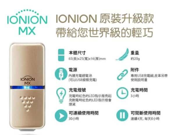 IONION產品特色