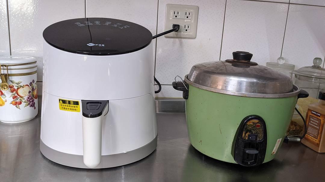 伊德爾氣炸鍋與大同電鍋比較