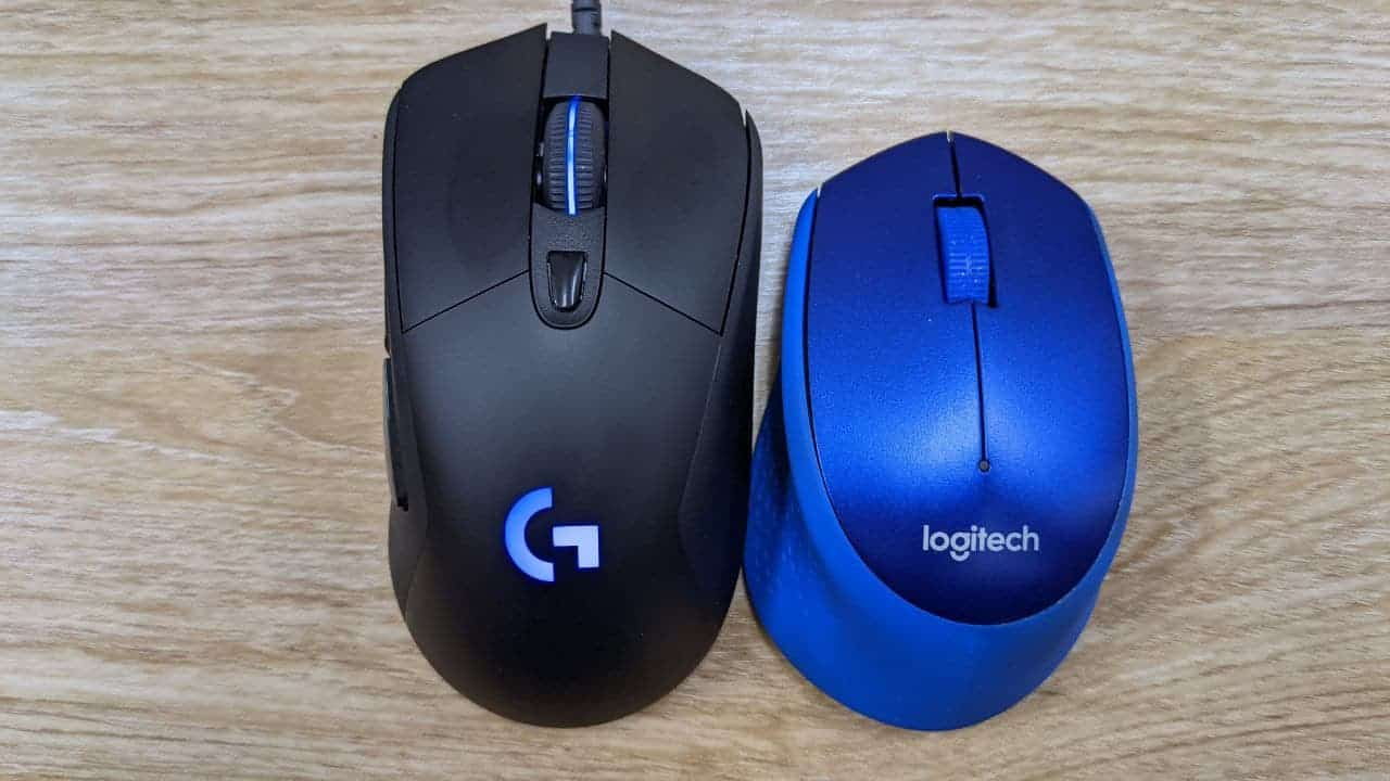 Logitech G403 VS M331 大小