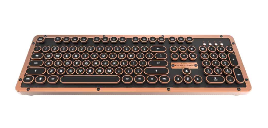 【AZIO】RETRO CLASSIC ARTISAN 小牛皮復古打字機鍵盤