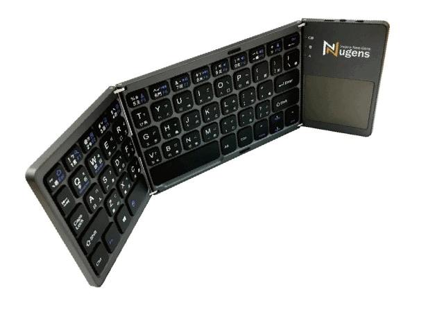【Nugens 捷視科技】Nugens 三折式藍芽折疊觸控鍵盤