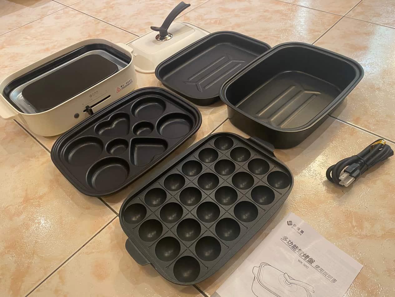 伊德爾電烤盤內容物2