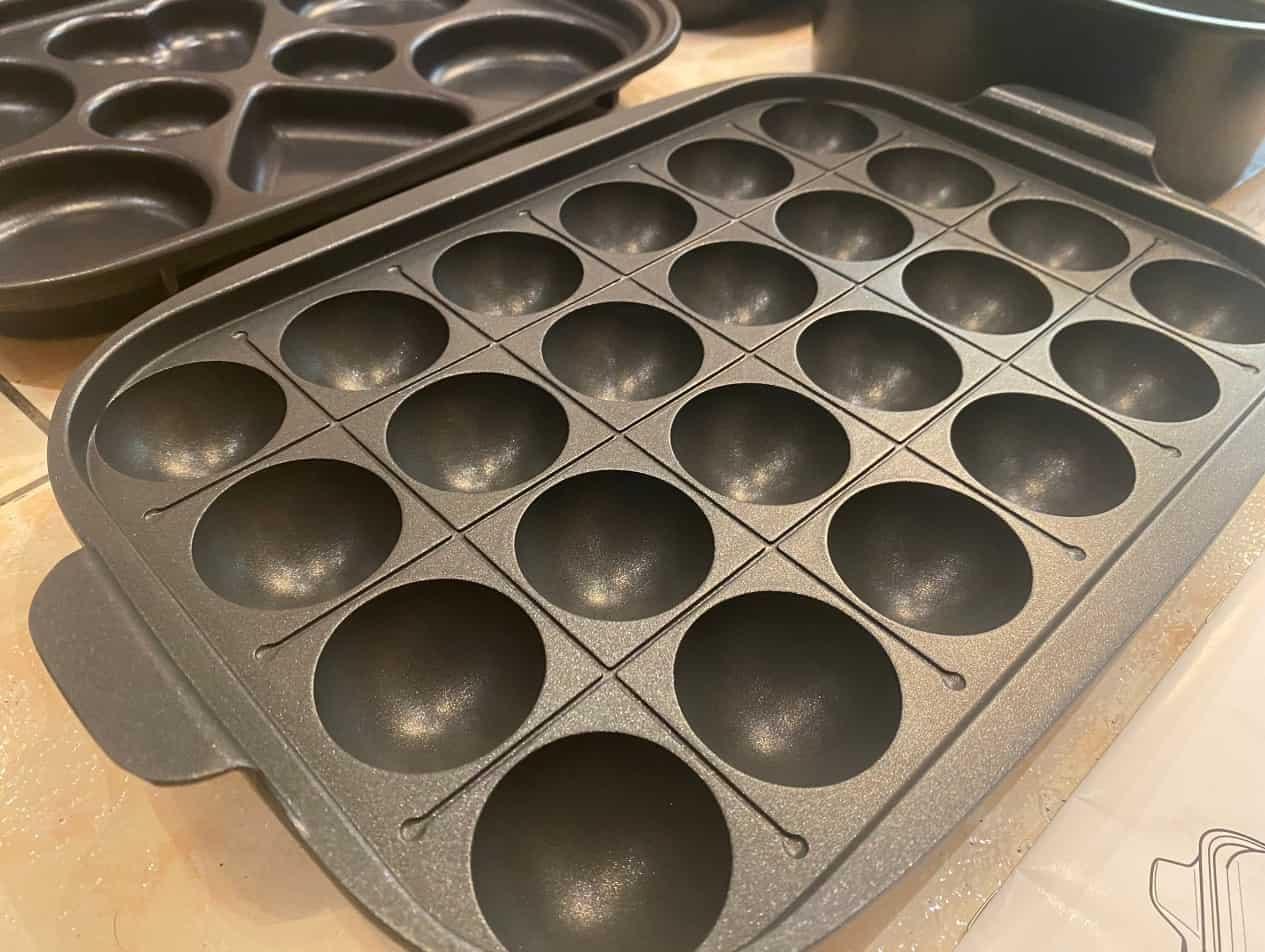 伊德爾電烤盤缺點:只有章魚燒有提把
