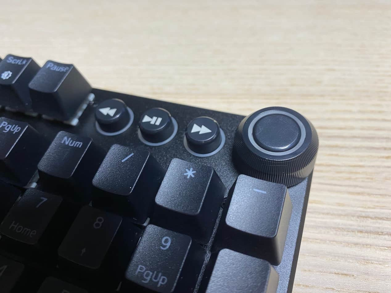 FXR-HKM-61旋音戰狐機械電競鍵盤-多功能快捷旋鈕