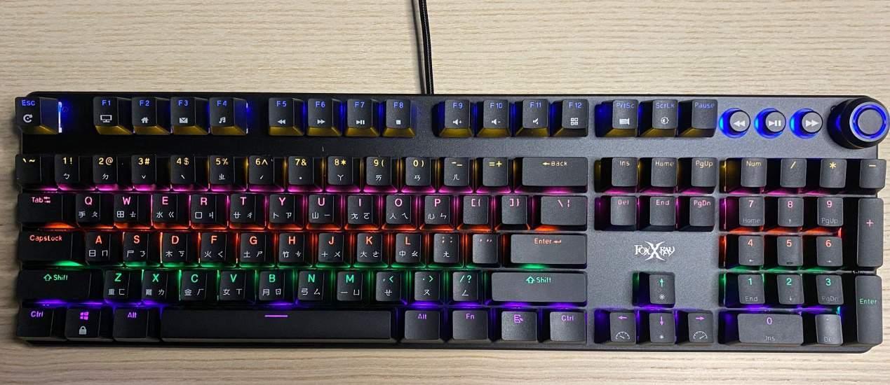 FXR-HKM-61旋音戰狐機械電競鍵盤-連接後發光