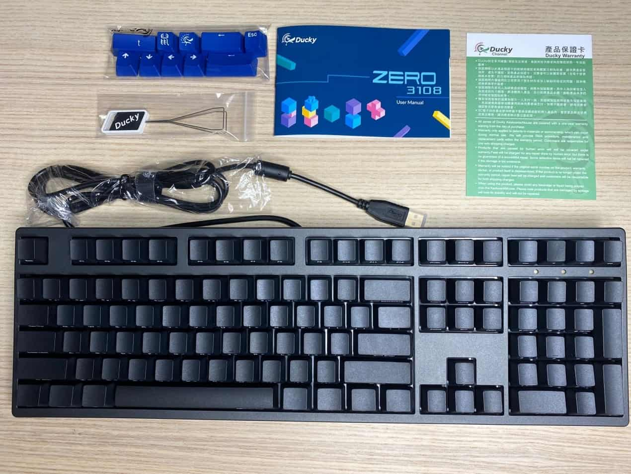 Zero-3108機械鍵盤-內部配件