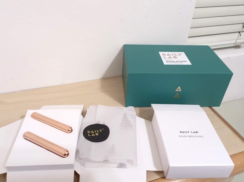 Daily Lab 車用香氛小金條-外盒與內裝包材