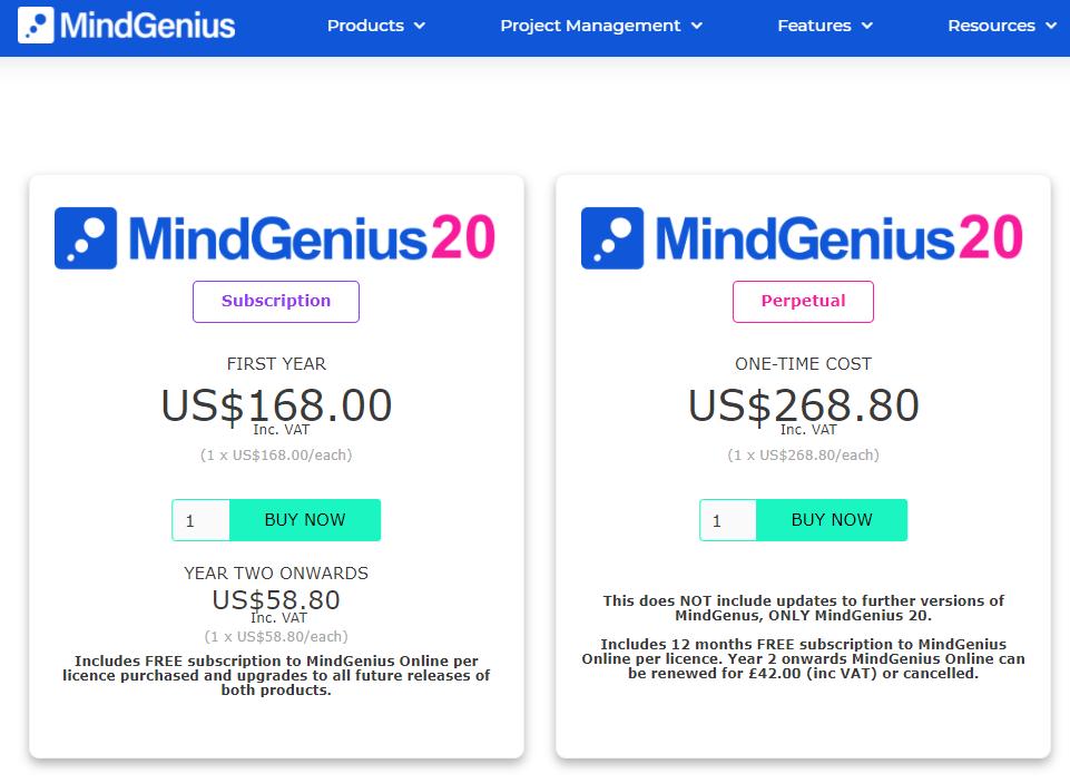 MindGenius心智圖價格