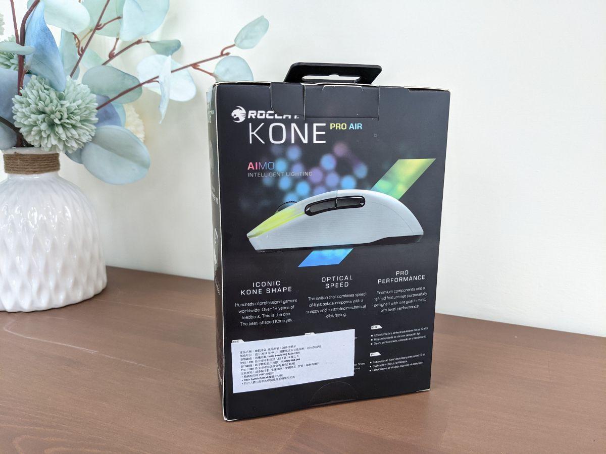 冰豹 ROCCAT KONE Pro Air 滑鼠包裝背面