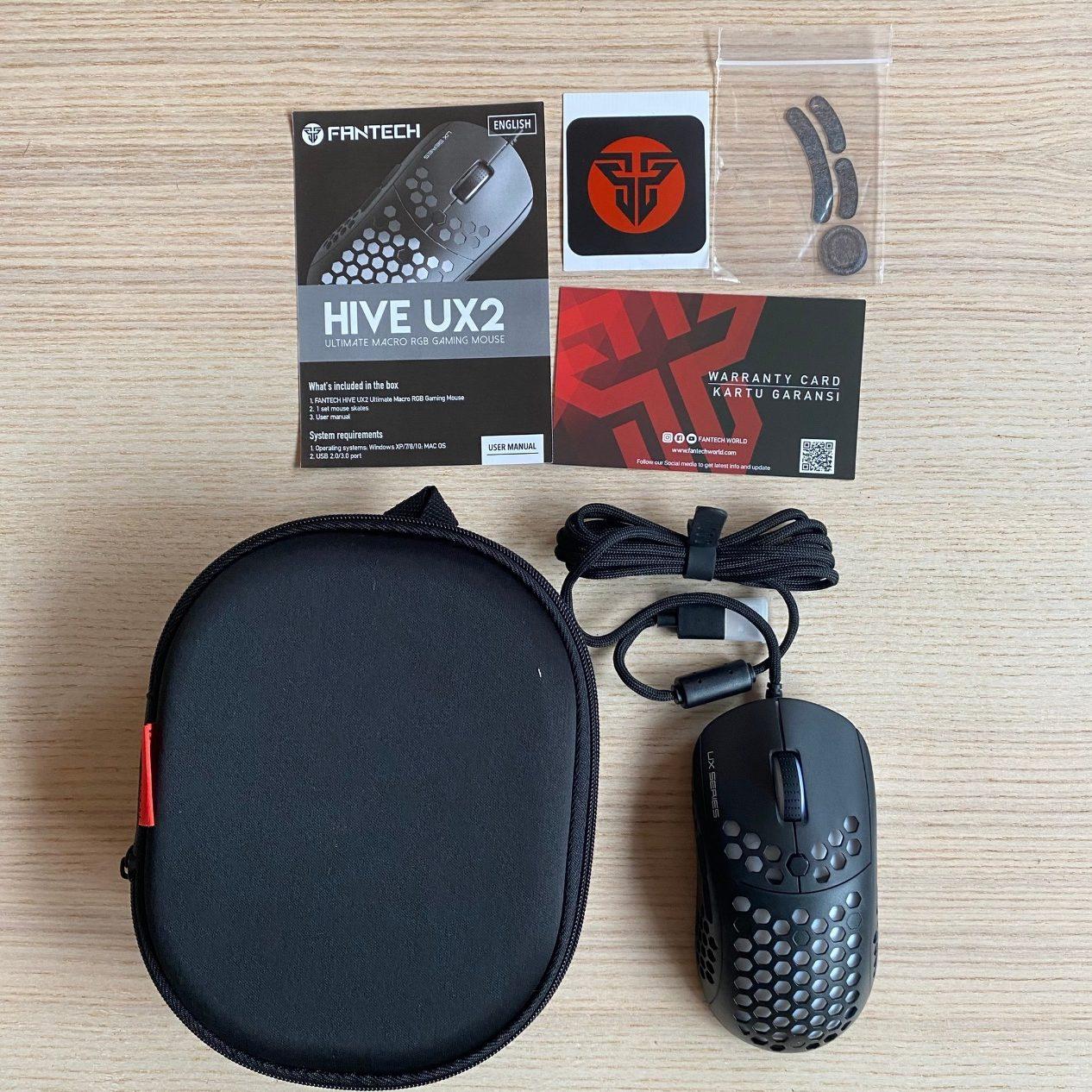 FANTECH UX2 HIVE電競滑鼠完整配件