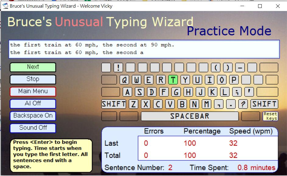 Bruce's Unusual Typing Wizard圖1