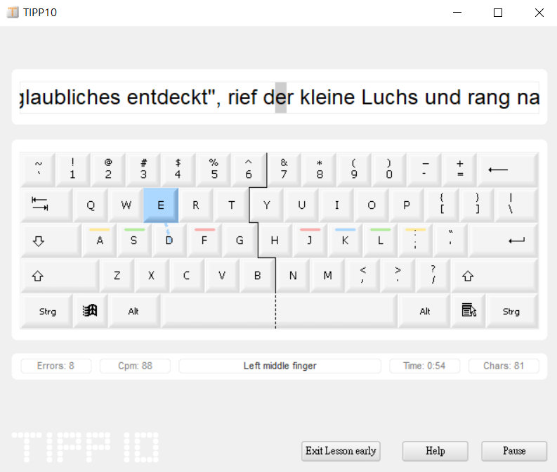 TIPP 10 Typing Software 圖1