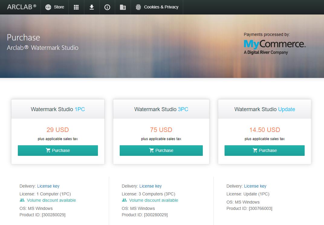 Arclab Watermark Studio 浮水印軟體