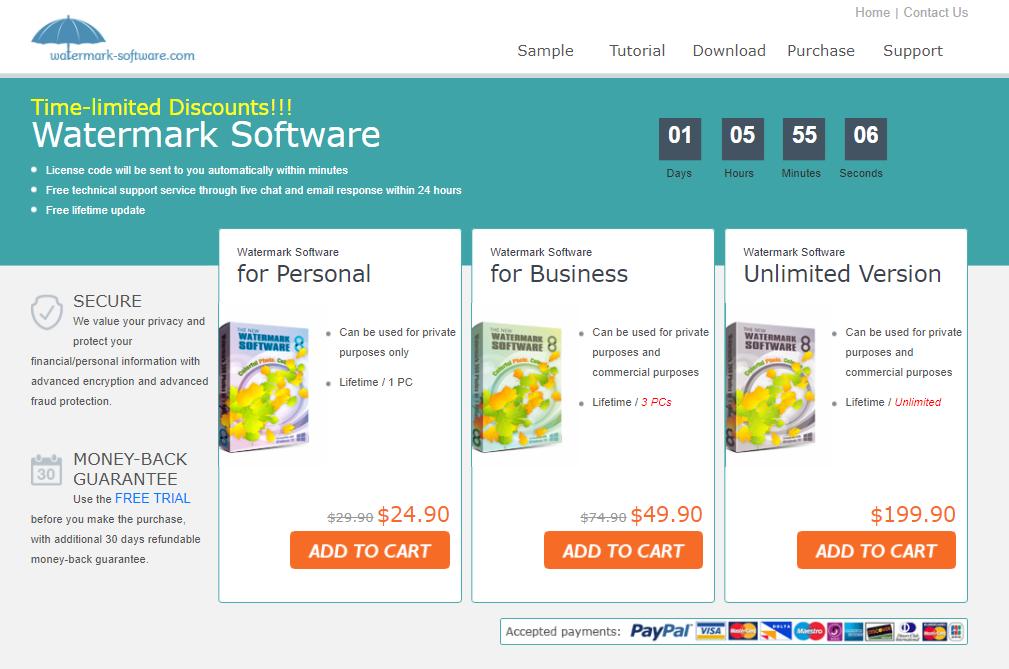 Watermark Software浮水印軟體介紹
