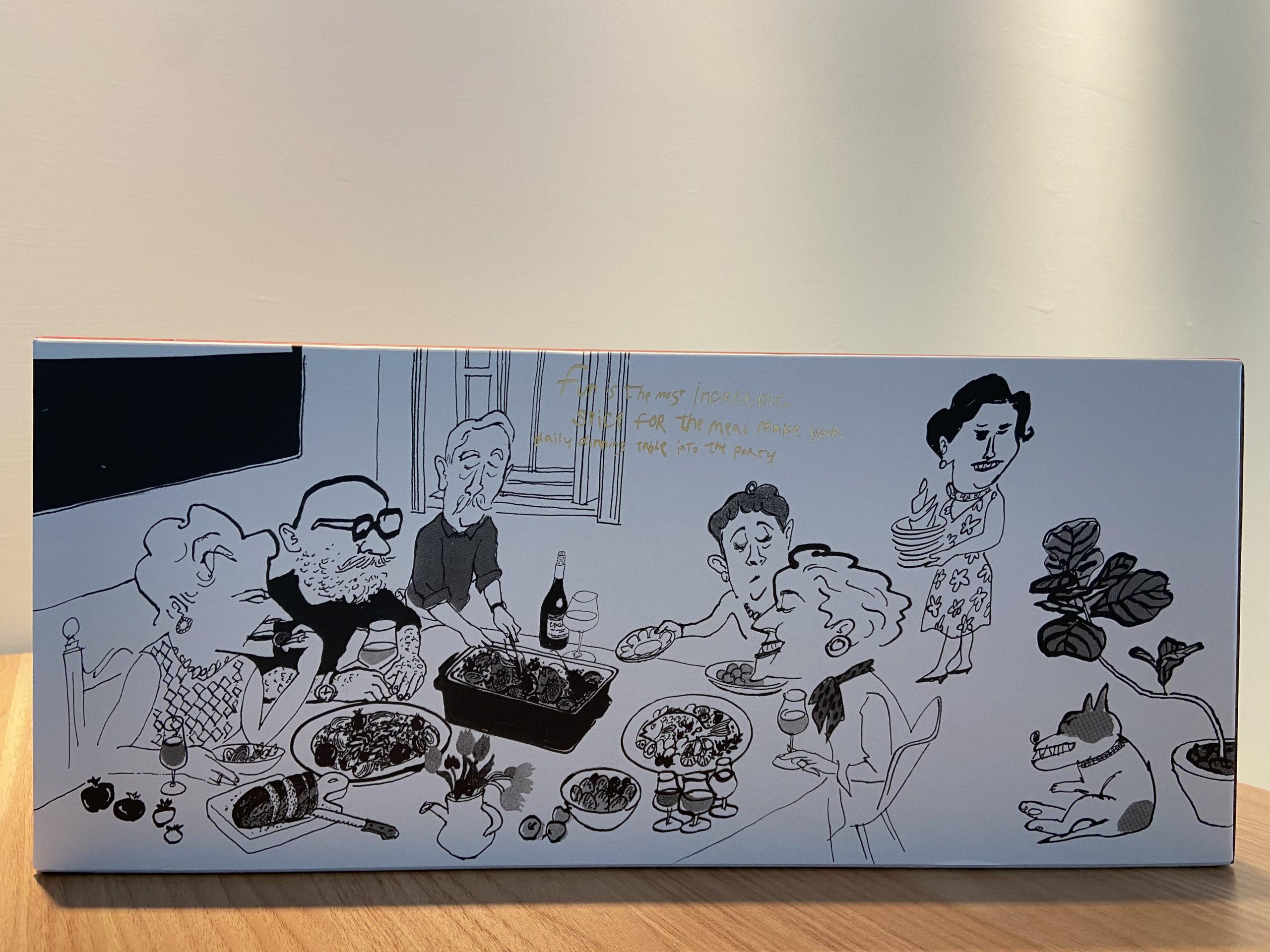 日本 BRUNO 電烤盤-盒裝外型插畫
